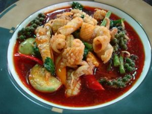 Red Curry squids