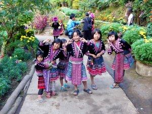 Hmong children in their village. Doi Pui, Chiang Mai