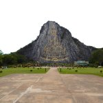 Wat Khao Chee Chan carved buddha mountain
