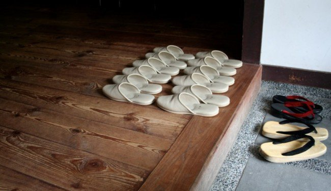 Why Asian people don't wear shoes indoors