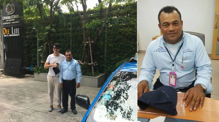 Thai taxi driver returns tourists money