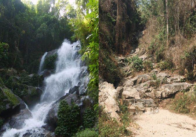 Chiang Mai's Huay Kaew waterfall dries up