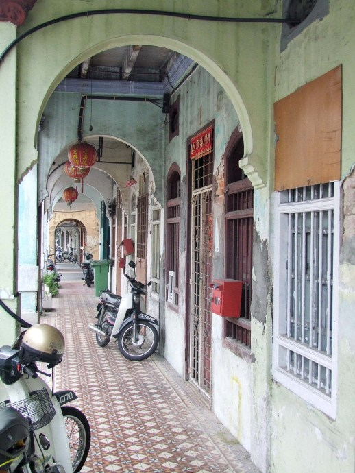 allee couverte typique penang georgetown