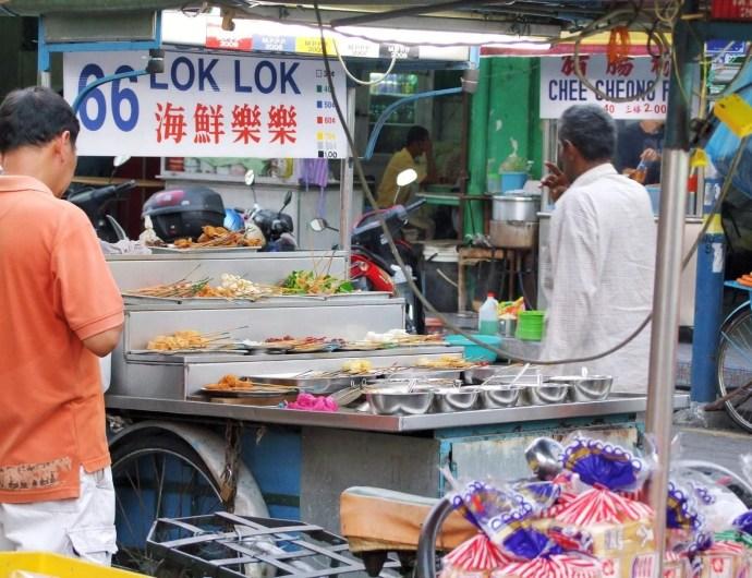 brochettes rue chulia penang malaisie