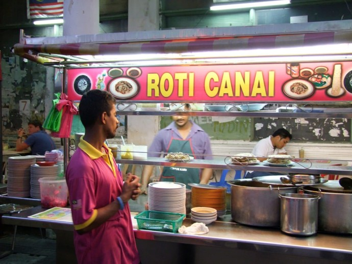 roti canai jalan penang malaisie