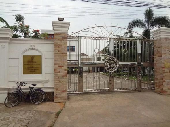 entrée ambassade thai à vientiane