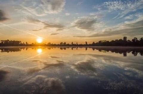 sunset cambodge siem reap 2014