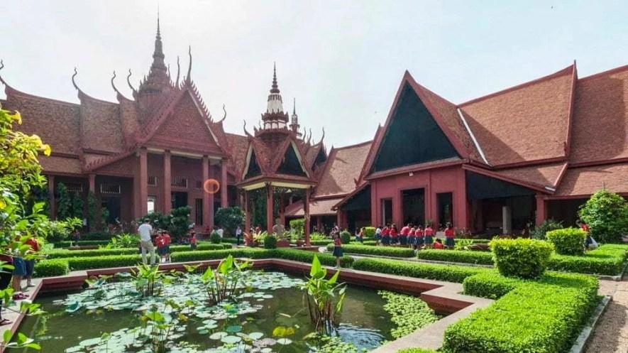Cour intérieure musée national Phnom Penh