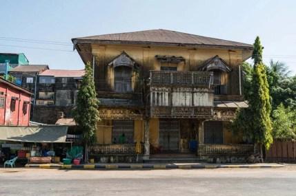 maison coloniale mawlamyine birmanie
