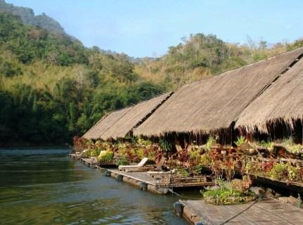 hotel flottant river kwai kanchanaburi