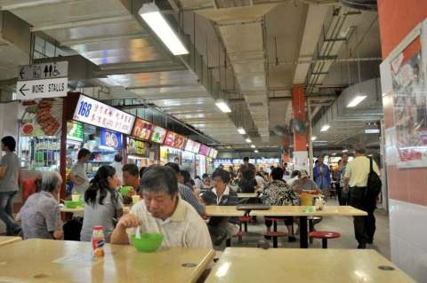 Food court Singapour