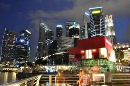 Marina Bay Merlion Singapour