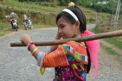 jeune fille minorités ethniques nord Vietnam - Bac Ha - Vinh Quang