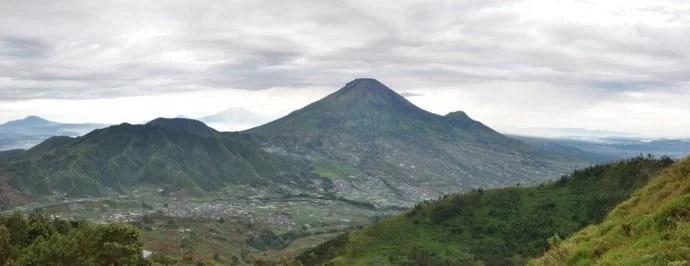 paysage dieng plateau wonosobo ile java indonesie