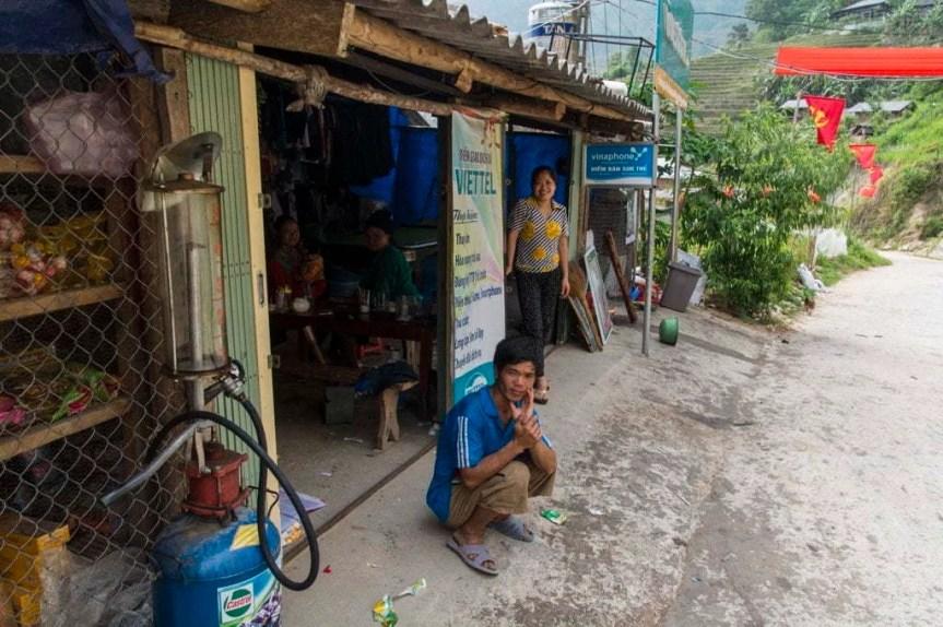 village nord Vietnam - route entre Vinh Quang et Ha Giang