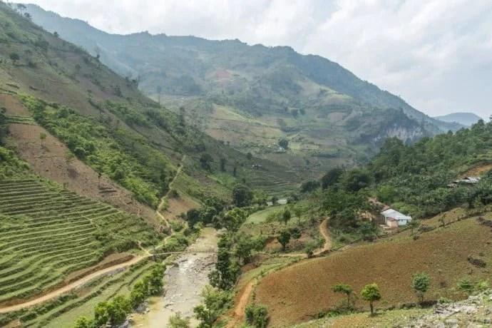 moto nord Vietnam - paysage entre Bao Lac et Cao Bang