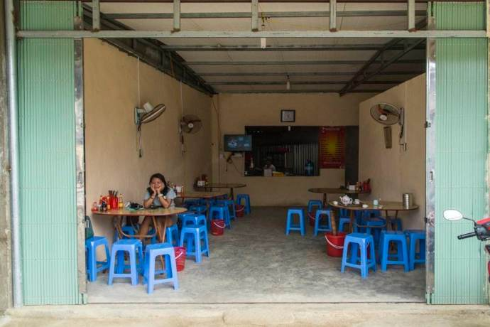 moto nord Vietnam - restaurant Tam Son