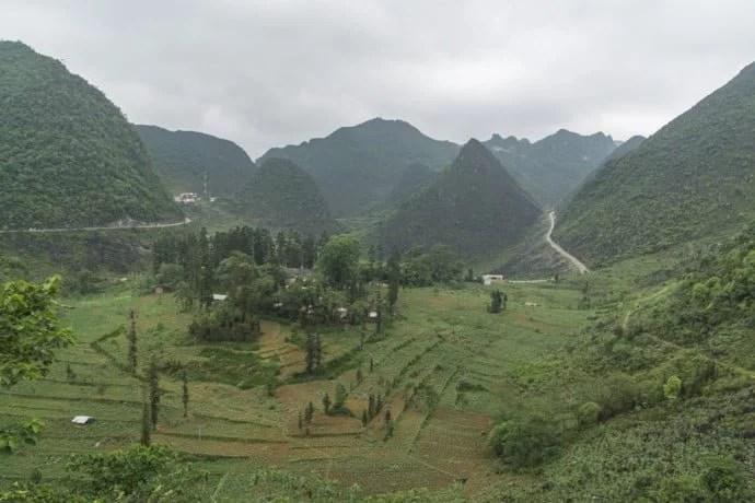 moto nord Vietnam - paysage Dong Van