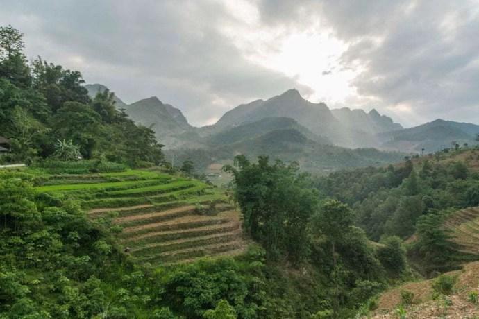 moto nord Vietnam - paysage entre Ha Giang et Dong Van