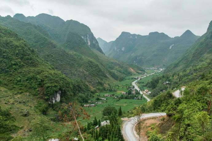 moto nord Vietnam - paysage pres de Dong Van