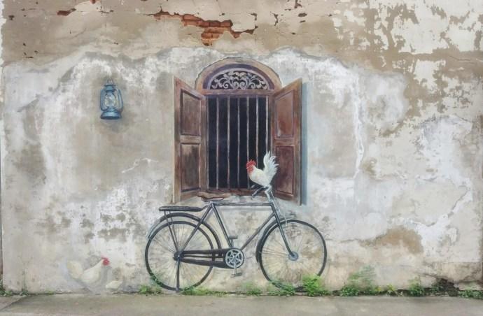 street art lampang velo poule