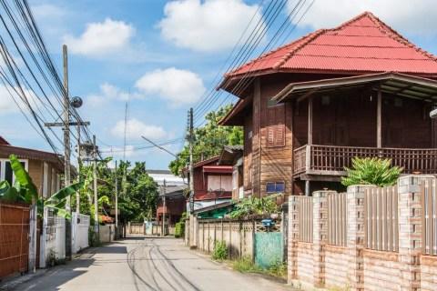 vieille batisse lampang nord thailande