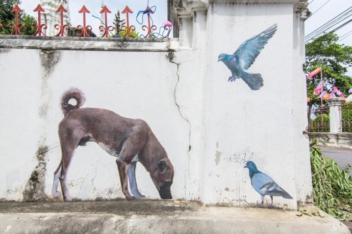 street art temple phetchaburi