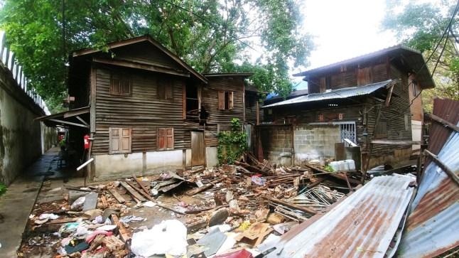 destruction maisons fort mahakan - bangkok