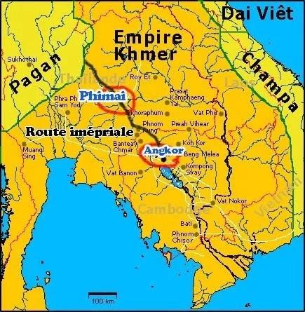 Carte Empire Khmer