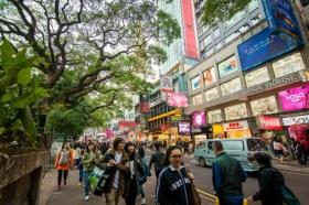 rue proche kowloon park - hong kong