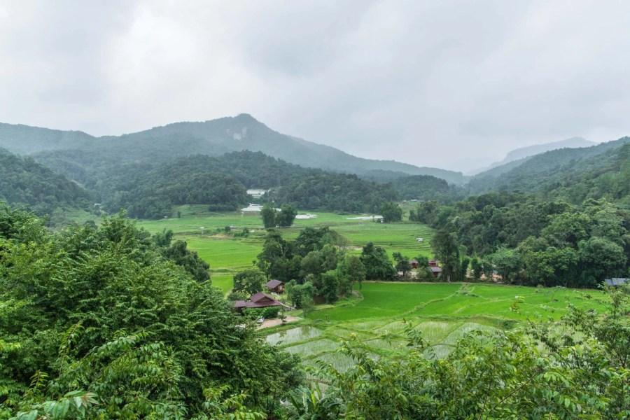 vue depuis café village mae klang luang doi inthanon - thailande