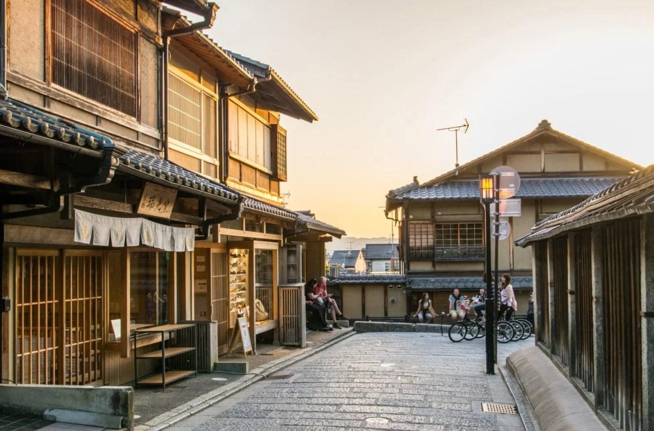 coucher soleil higashiyama kyoto