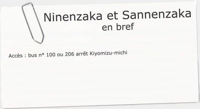 infos utiles ninenzaka sannenzaka kyoto
