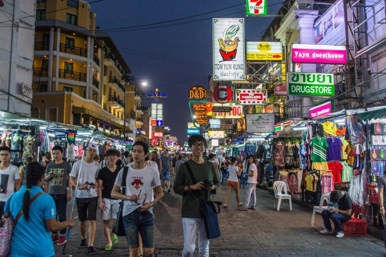 khao san road nuit bangkok