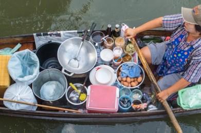 bateau pad thai marché flottant damnoen saduak