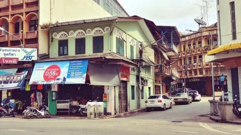 maison verte sino portugaise ville trang - thailande