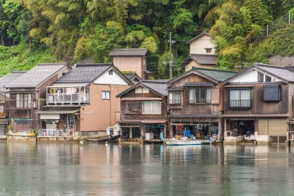 maisons funaya village ine - japon