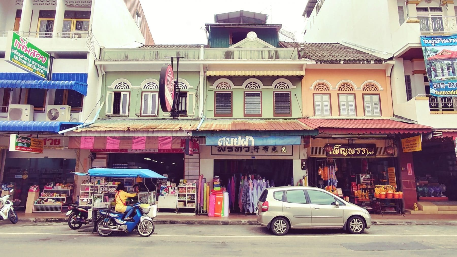 shophouses architecture sino portugaise trang - thailande