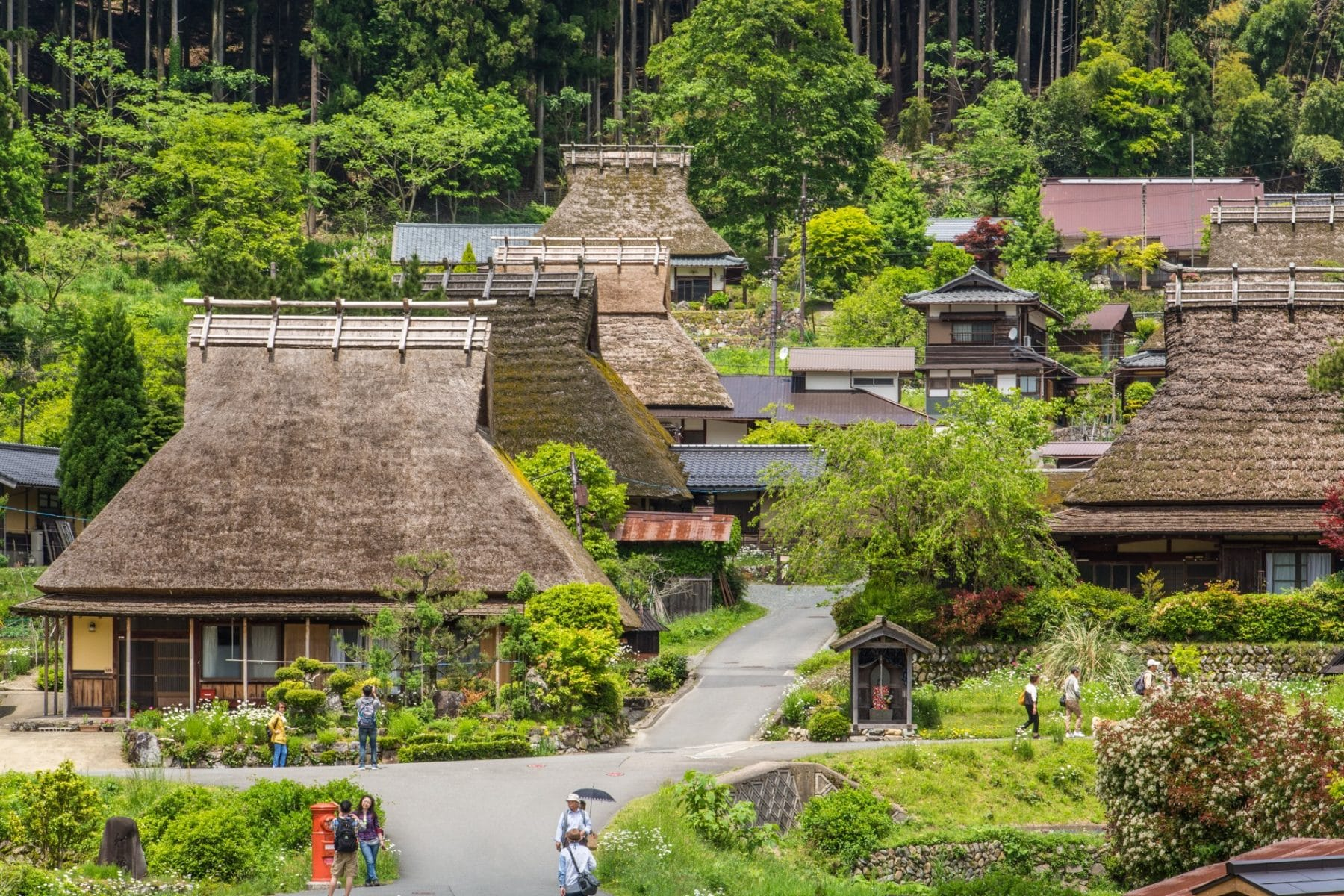 village miyama kayabuki-no-sato - kyoto prefecture japon