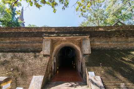 entree tunnels wat umong - chiang mai