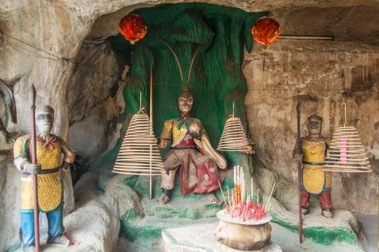 sculpture ling sen tong temple - ipoh - malaisie