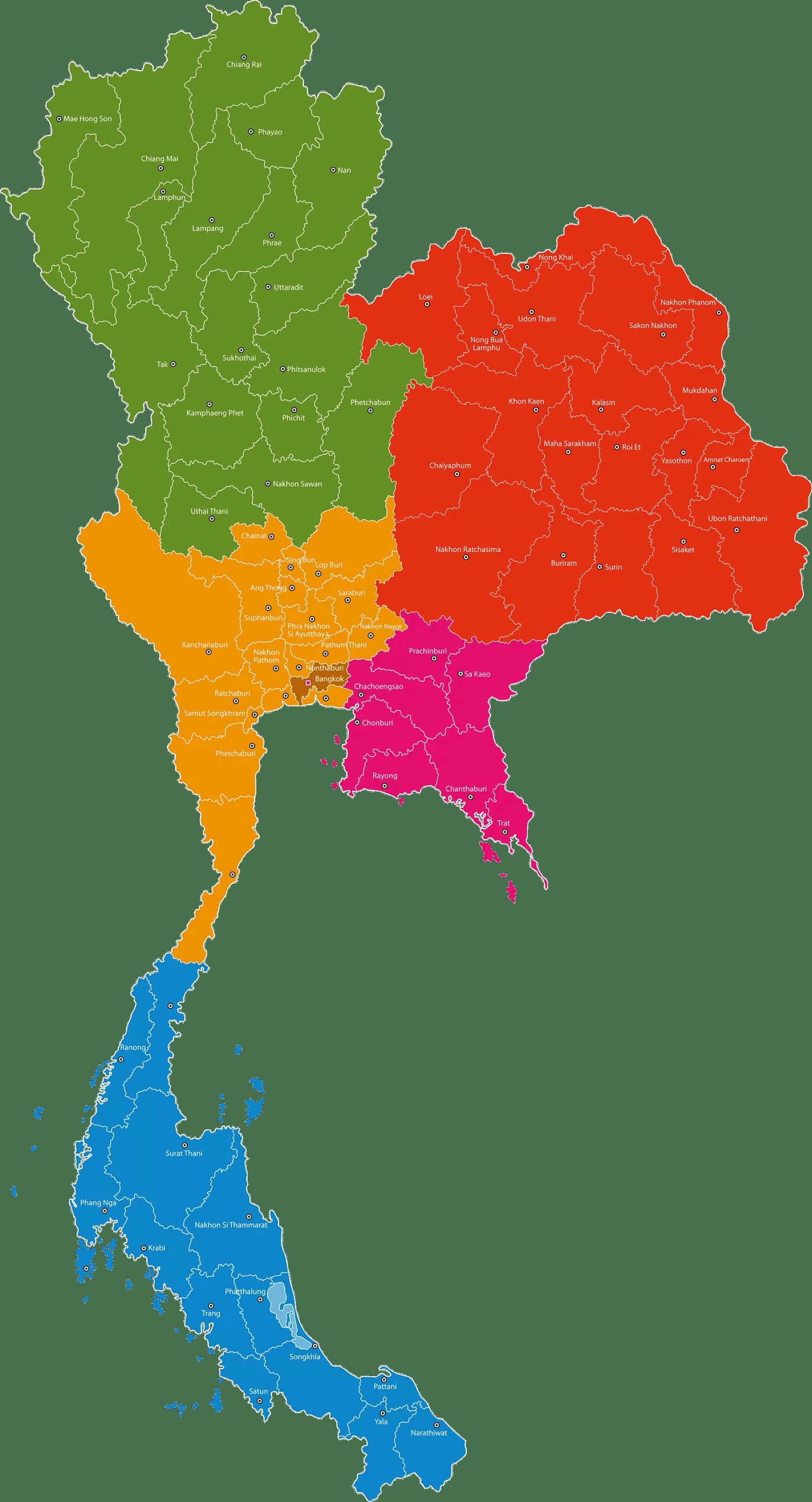 carte thailande photos nord-est