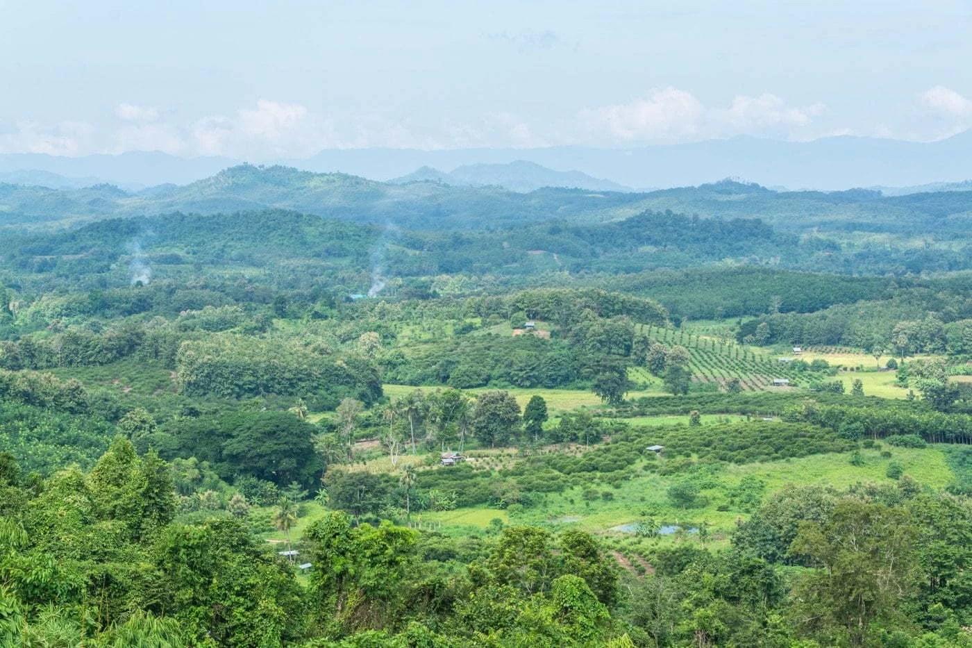 paysage vers phrae - thailande