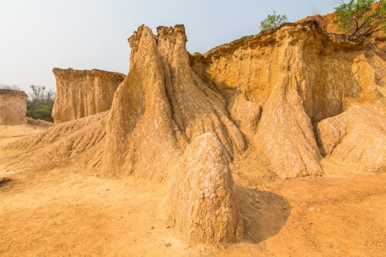 erosion mueang phi province phrae - thailande