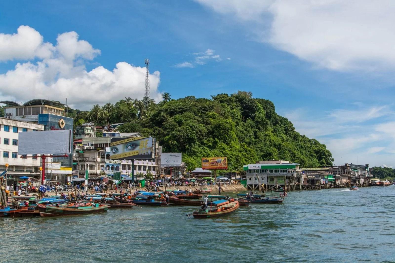 quai arrivée kawthaung birmanie