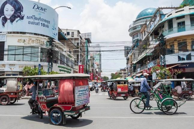 rue phnom penh cambodge