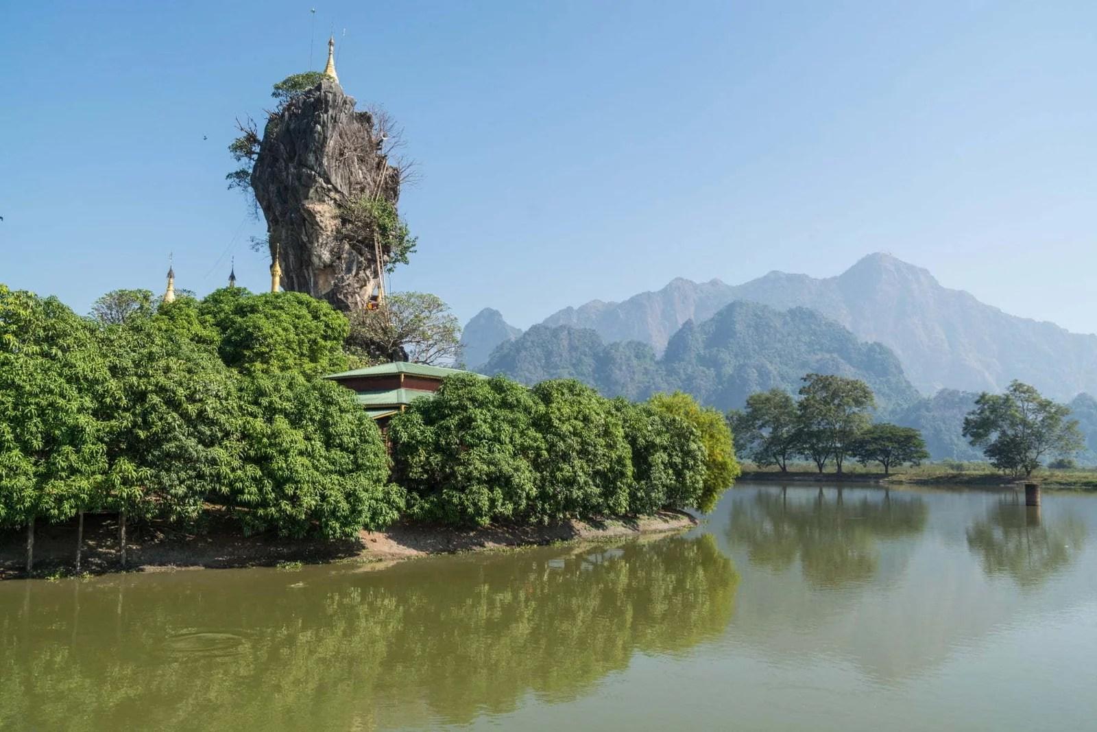 temple perche kyauk ka lat hpa an - birmanie