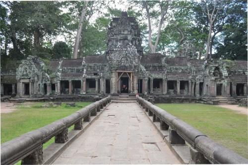 temple ta phrom a angkor en aout