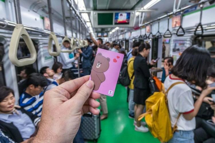 carte t money metro seoul coree du sud
