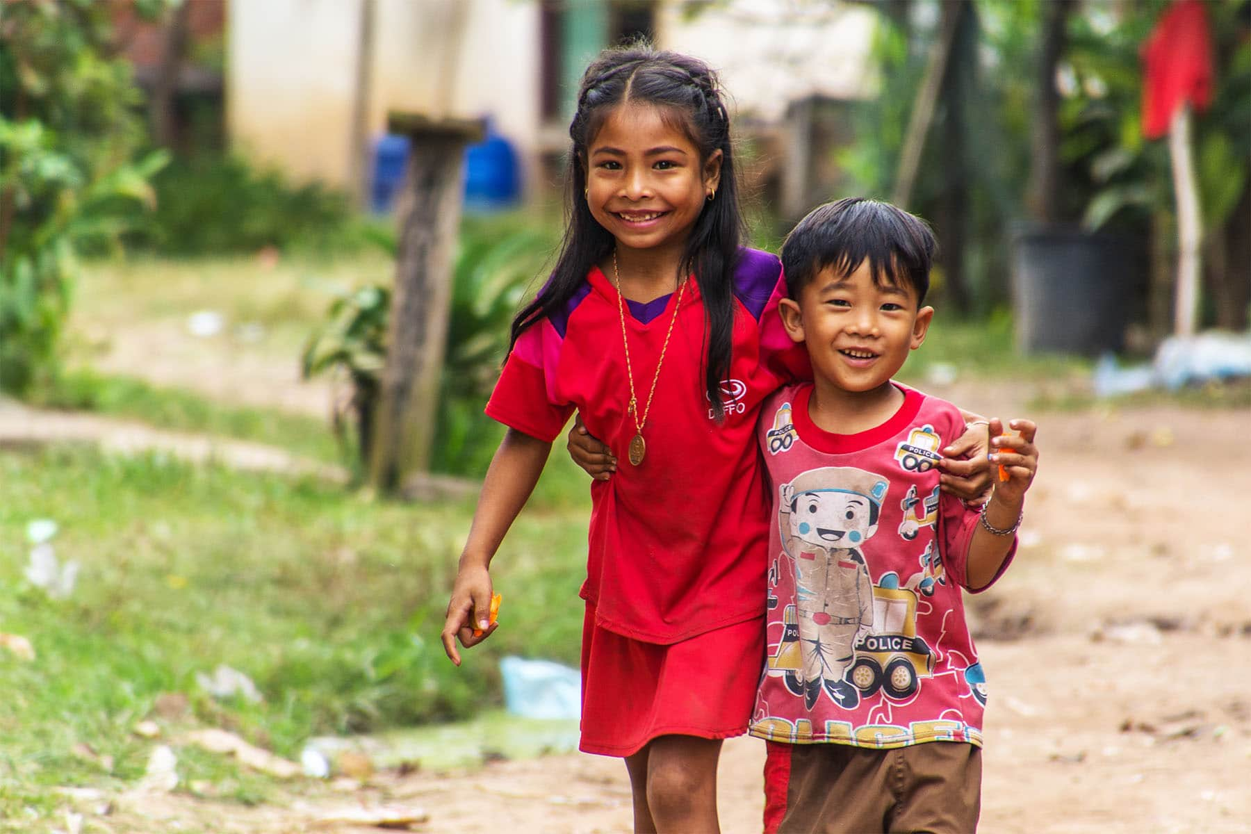 sourires gamins campagne laos